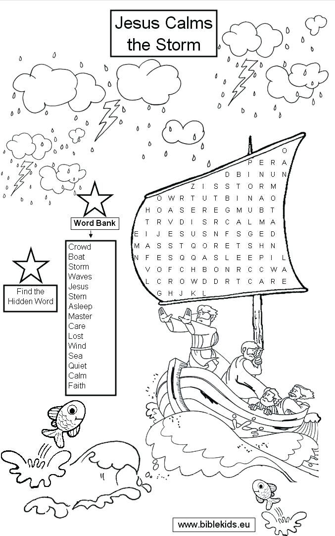 picture relating to Jesus Calms the Storm Printable known as jesus calms the storm coloring web page calms the storm coloring