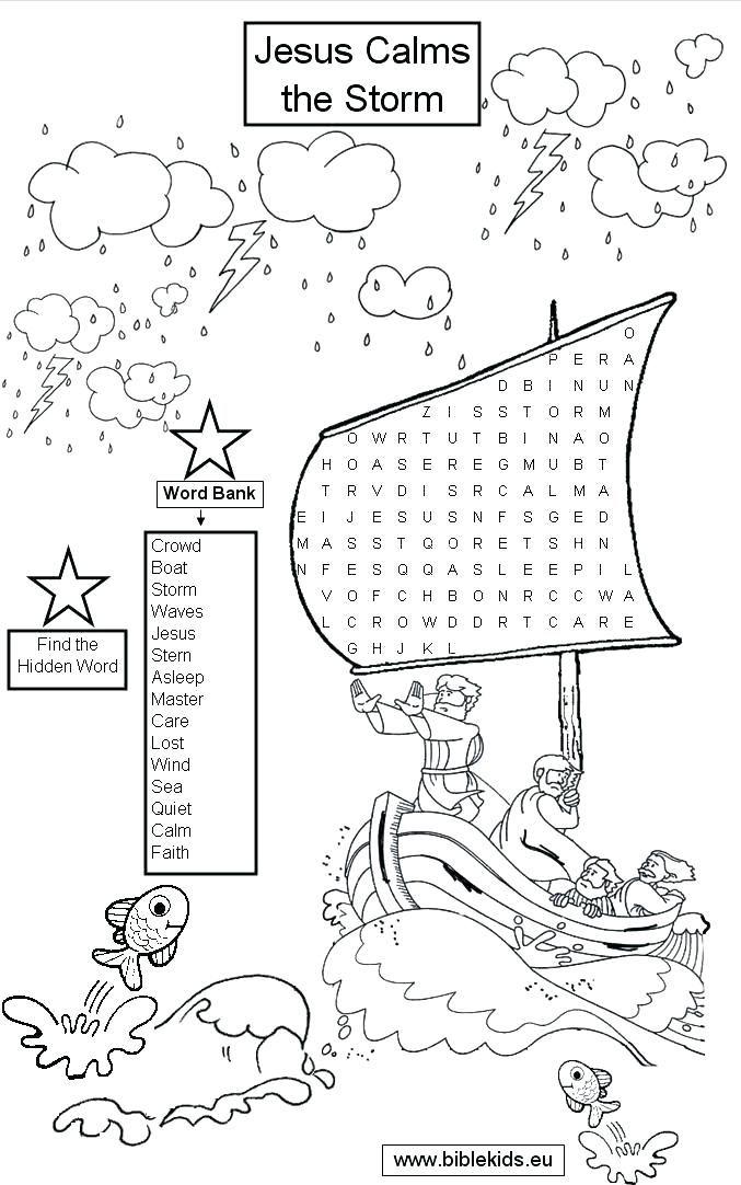 image regarding Jesus Calms the Storm Printable called jesus calms the storm coloring website page calms the storm coloring
