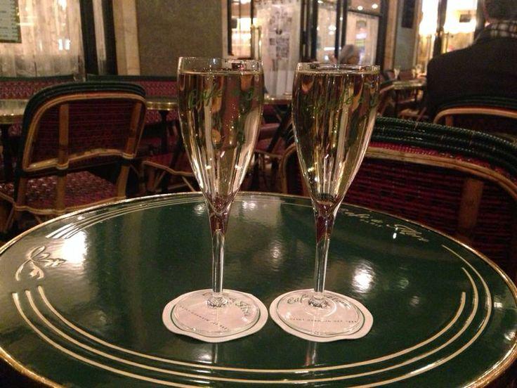 Champagne at Cafe de Flore