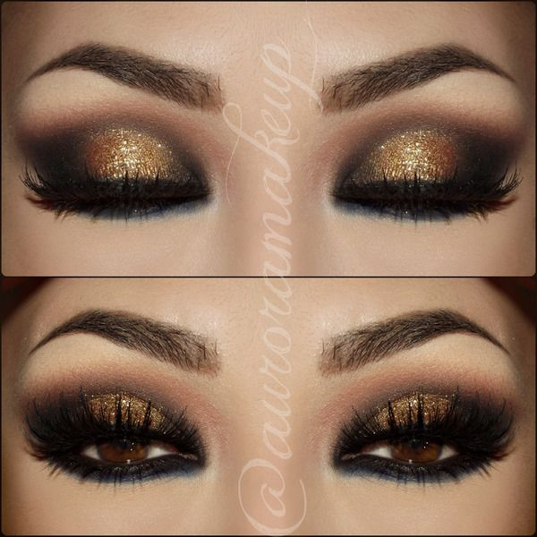 Smokey eye, folded pic of one eye just to have the idea