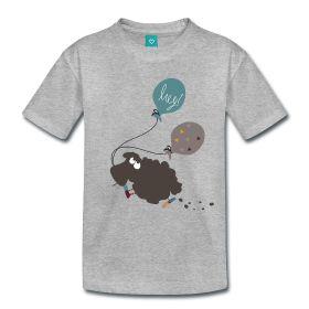 Das #T-Shirt mit #Schaf Elsbeth und den #Luftballons besteht aus 100 % Baumwolle und ist der perfekte Begleiter für jedes #Kind.
