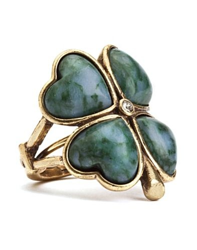 Try your luck with this quirky green clover ring. Our signature Lucky Brand symbol in gold and green is sure to make you smile. Wear it to give a playful touch to dressed-down looks.