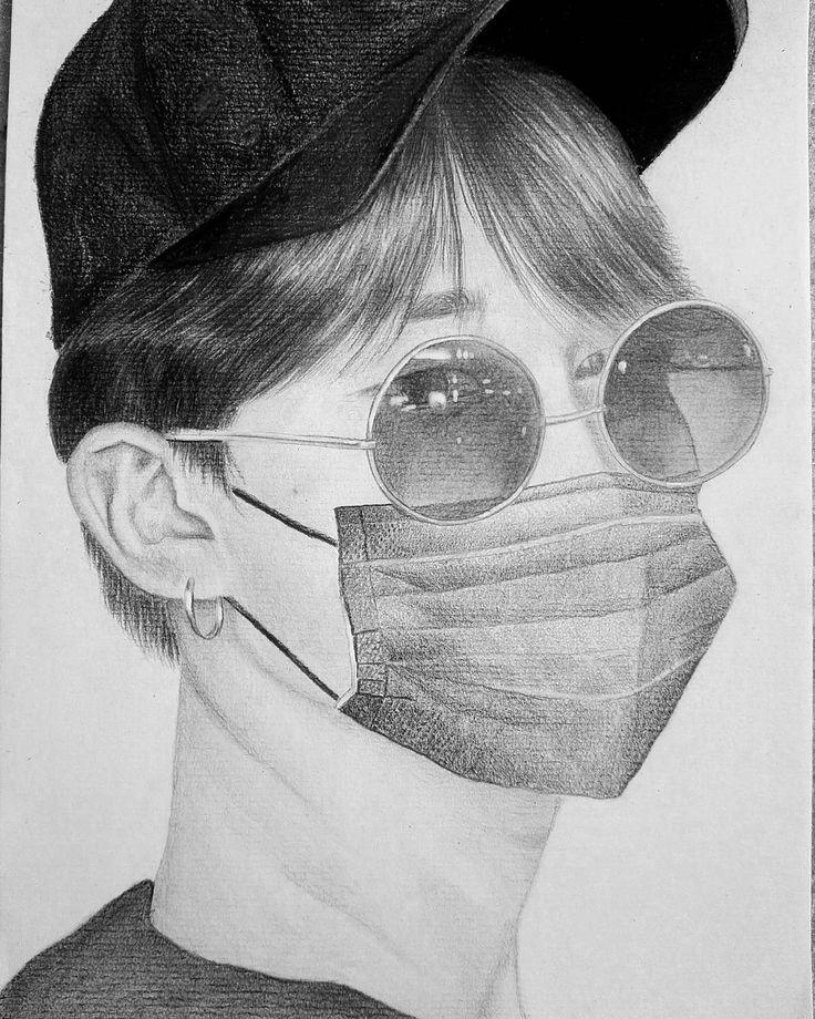 """Polubienia: 46, komentarze: 4 – Dead._._.Leaves (@dead._._.leaves) na Instagramie: """"Jimin  #art #artwork #artist #drawing #realism #detail #pencil #shading #portrait #wip #bts #fanart…"""""""