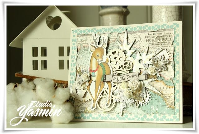 DT card for Korthobby.no - November Challenge :) #Card #scrapbooking #octoberafternoon #christmas