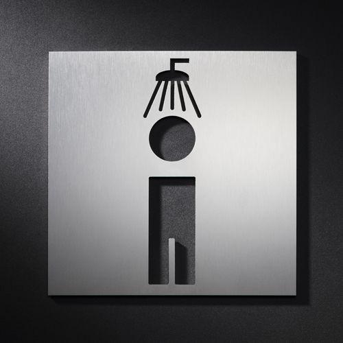 Pictogramme signal tique douche homme salle de bain for Salle de bain homme