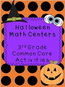 Halloween Math Centers 3rd Grade COMMON CORE