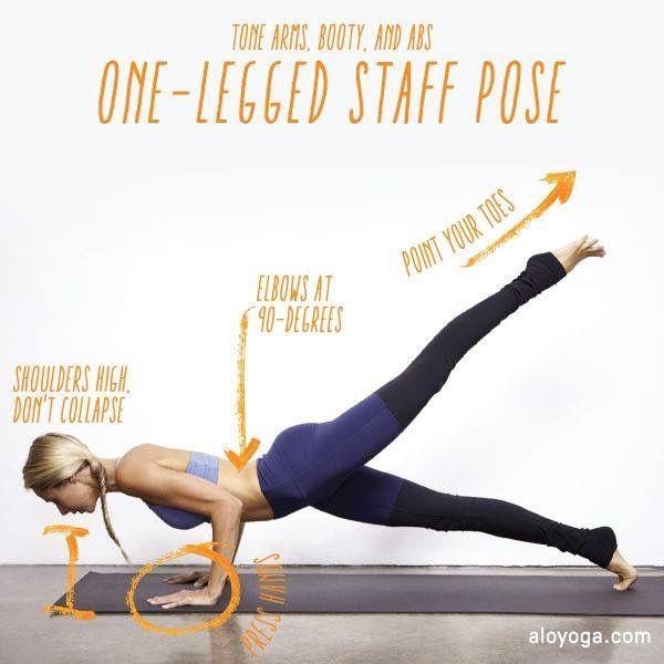 One-legged staff position yoga