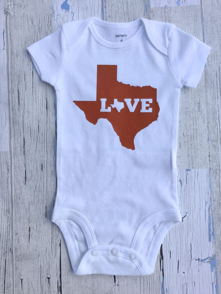Love Texas Baby Onesie Size 0-12 Months by sunnyvilledesigns on Etsy https://www.etsy.com/listing/522473393/love-texas-baby-onesie-size-0-12-months