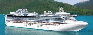 Diamond Princess Cruise Ship from anchorage to van