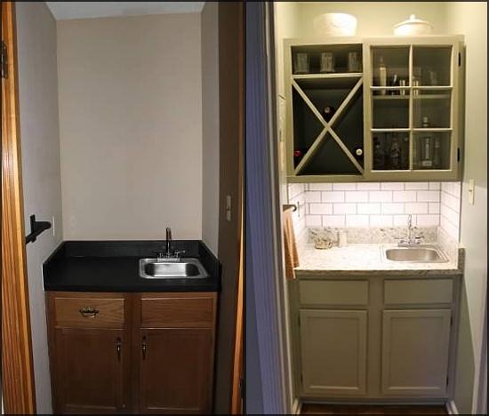 Ocean Blue Bedroom Decor Bedroom Diy Farmhouse Bedroom Lighting Bedroom Cabinet Design: Wet Bar Upgrade With DIY Upper Cabinet And Wine Rack