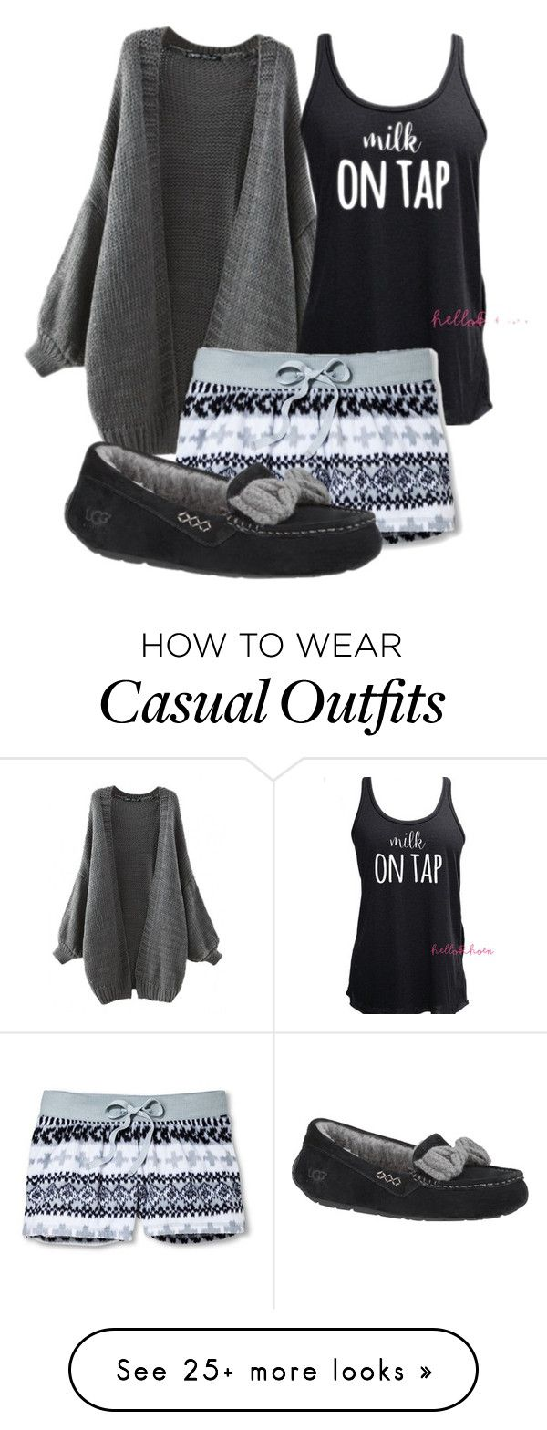 U0026quot;mama wants sleepu0026quot; by kurlyglamour on Polyvore featuring Xhilaration UGG Australia sleepwear ...