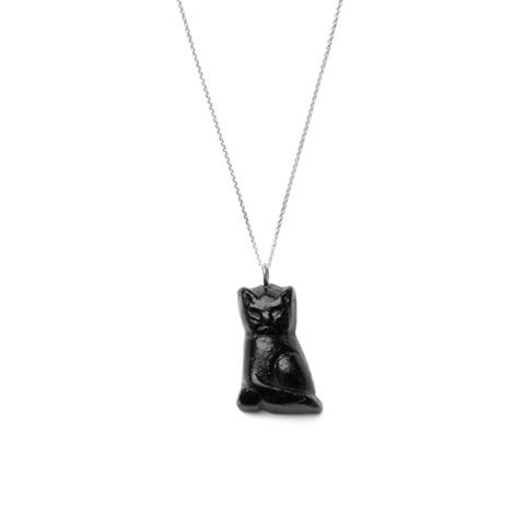 Black Cat Pendant by Minnette