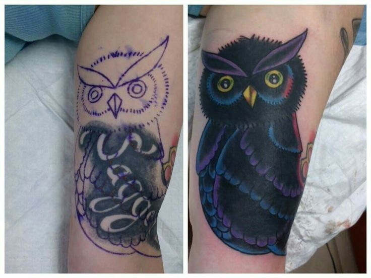 Owl cover up tattoo by Camron Austin | Tattoos by Camron ...