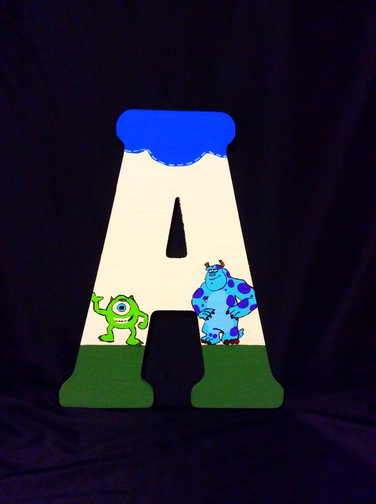 Monsters inc letters by Candied 172 best