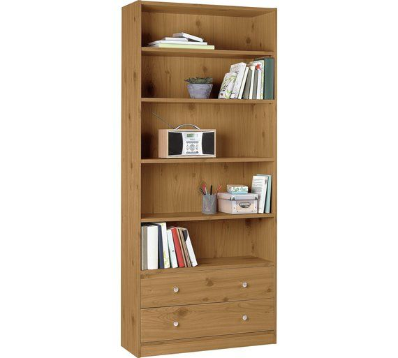 Buy HOME Maine 2 Drawer Extra Deep Bookcase - Oak Effect at Argos.co.uk, visit Argos.co.uk to shop online for Bookcases and shelving units, Living room furniture, Home and garden