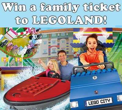 Win A LEGOLAND® Family Ticket worth over £200! + Two runner up prizes.