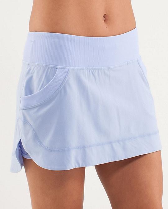 Lululemon running skirt.  Wear these everyday, whether exercising or not.