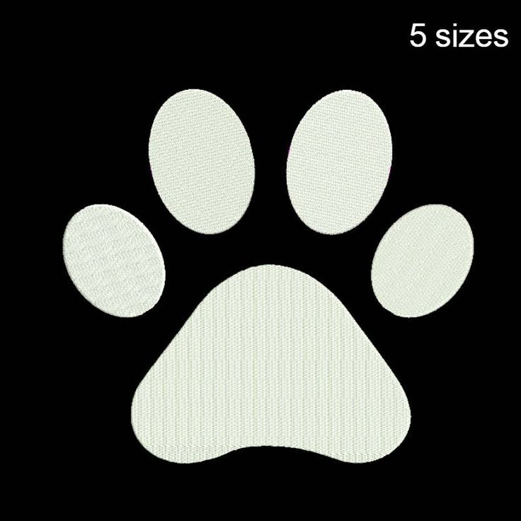 Paw Embroidery Machine Designs animal pattern digital instant design t-shirt towel dog designs hoop file by SvgEmbroideryDesign on Etsy