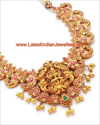 Unique Designer Temple Jewellery in Mango Design | Latest Indian Jewellery Designs