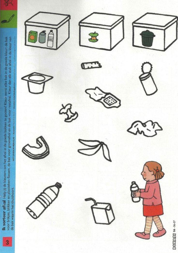 Thema afval: werkblad sorteren