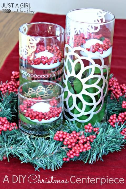 A DIY Christmas Centerpiece by Just a Girl and Her Blog