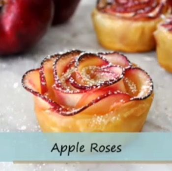 Apple Roses -- http://enjoyeasymeals.com/desserts/rose-shaped-apple-baked-dessert/