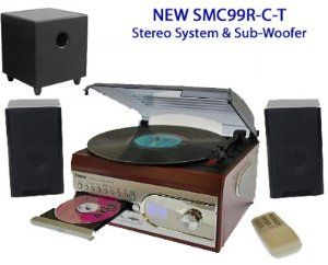 SMC-99R-C-T Compact Stereo Music System - Turntable Record Player - CD - Radio - MP3 Play-back / Recorder (Record to MP3 on USB / SD Card from CD & Records) by Steepletone + DTL Sub Woofer Speaker System Package - Rosewood / Black has been published at http://flatscreen-tvs.co.uk/tvs-audio-video/home-audio-theater/smc99rct-compact-stereo-music-system-turntable-record-player-cd-radio-mp3-playback-recorder-record-to-mp3-on-usb-sd-card-from-cd-records-by-steepletone-dtl-sub-woof
