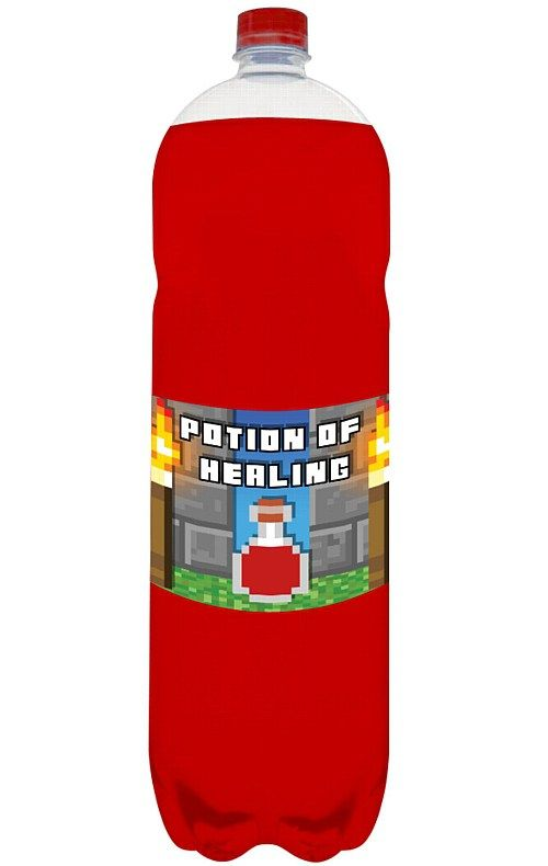 Minecraft Party potion labels