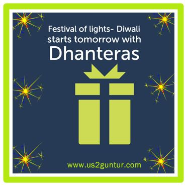 #Dhanteras an auspicious day for purchase of gold, silver and any other new utensils. Dhanteras- The first day of #Diwali celebrations and Festival of Wealth.  Dhanteras Gifts: http://is.gd/DhanterasGifts  Chance to win Assured Free #Gifts and #Samsung Tab 4 and Gold Coins in a Lucky Draw. Click here for more details: bit.ly/ShopnWinFreeGifts  For More Exciting Offers Follow our Official page http://www.pinterest.com/us2guntur