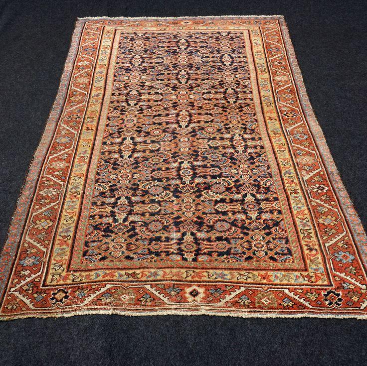 Antiker Orient Teppich 185 x 118 cm Alter Perserteppich Herati Antique Old Rug