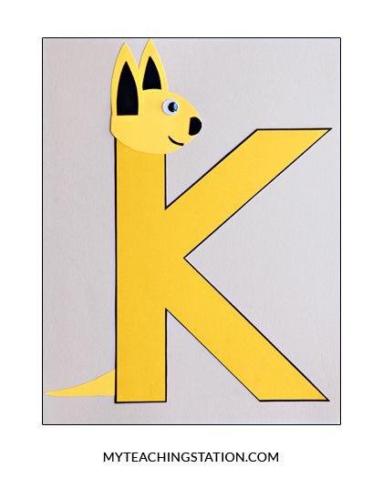 Letter K Craft: Kangaroo in 2020 | Letter k crafts, K ...