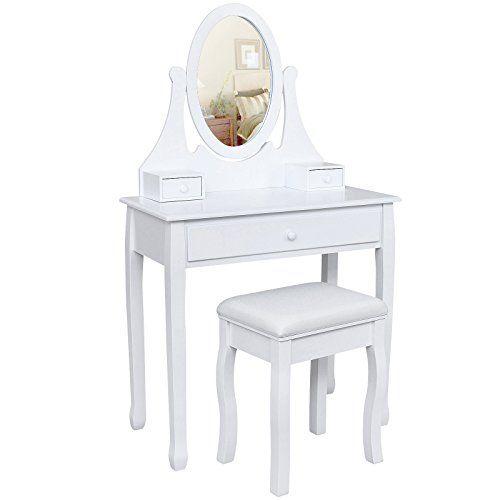 Songmics Tocador con cajones, espejo y taburete Mesa de maquillaje, Blanco, RDT002 Songmics http://www.amazon.es/dp/B00PQ70494/ref=cm_sw_r_pi_dp_uebzwb1RB09JV