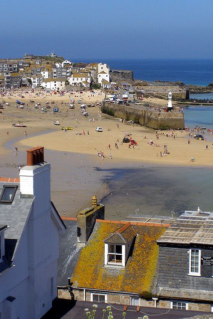 St Ives harbour from The Malakoff - St Ives, England