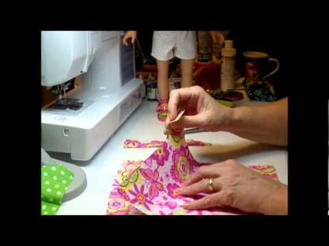 How to make a doll skirt with ruffle