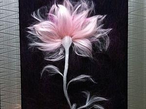 Простой способ создать картину из шерсти своими руками | Ярмарка Мастеров - ручная работа, handmade