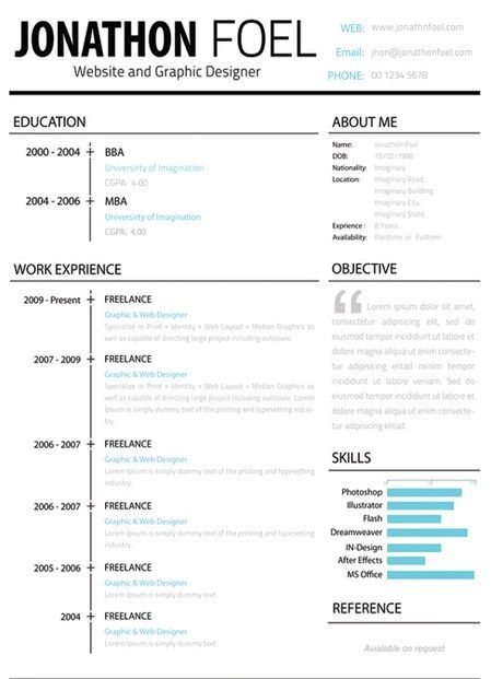 36 best Simple Resume Template images on Pinterest Sample resume - where can i get a free resume template