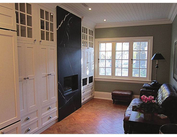 Material Used on Fireplace: Black Silk Brushed
