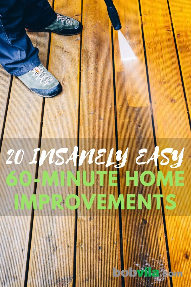 25 Insanely Easy 60 Minute Home Improvements Home Improvement Home Improvement Loans Home Improvement Projects