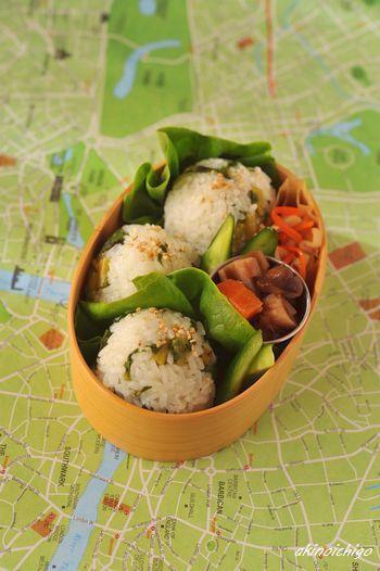 Onigiri radish leaf