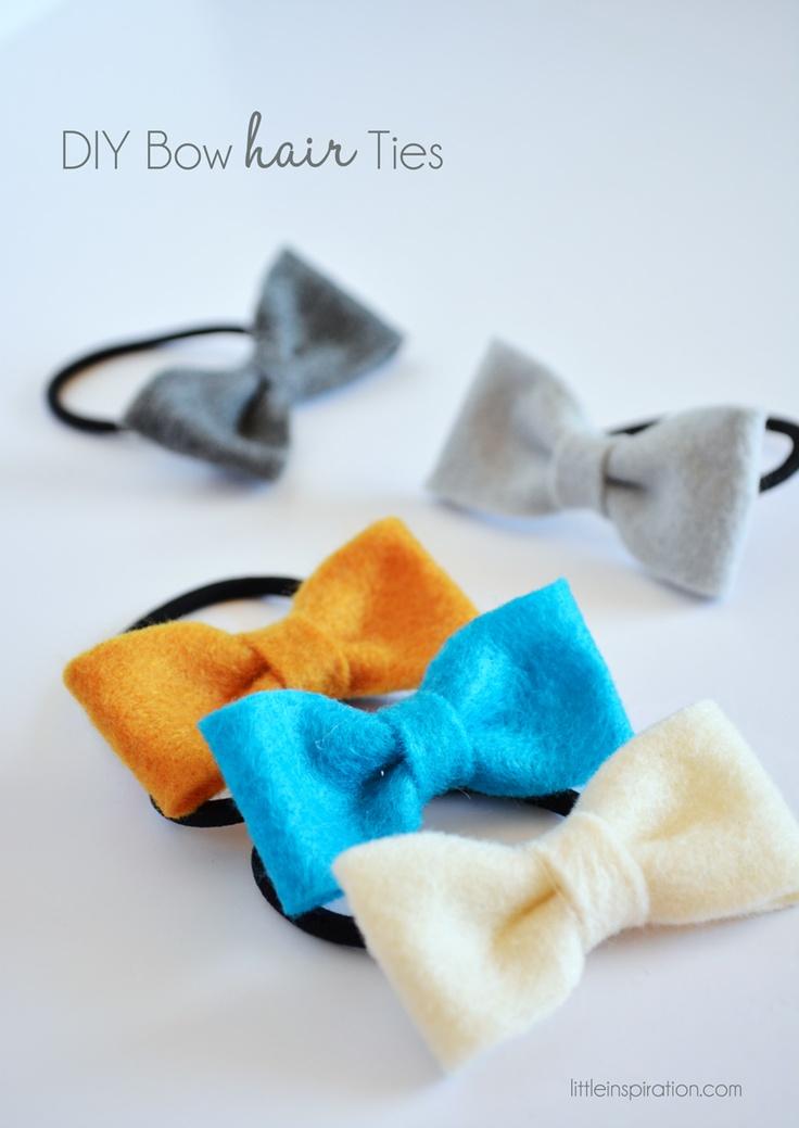 DIY Bow Hair Ties » LittleInspiration.com