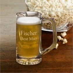 Personalized Etched 12 oz Beer Mug