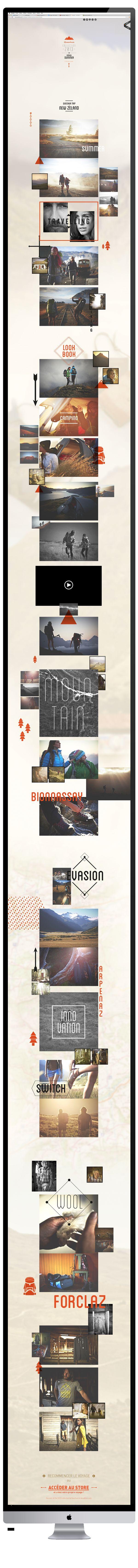 LOOKBOOK QUECHUA by Blandin Timothé, via Behance #webdesign http://www.quechua.com/campaigns/lookbook-spring-summer/#/travel