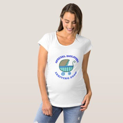Maternity T-Shirt Special Delivery - baby shower ideas party babies newborn gifts
