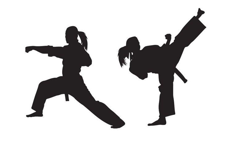 Karate Wall Decal - GIRL VERSION - Sticker , Kung Fu - Martial Arts. $55.00, via Etsy.