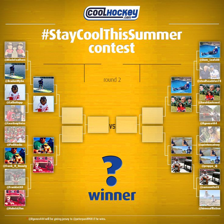 #StayCoolThisSummer #Contest Quarter-Finalists! Go to Twitter/ Instagram to vote for your favorite picture now! COOLHOCKEY.com FREE #NHL JERSEYS