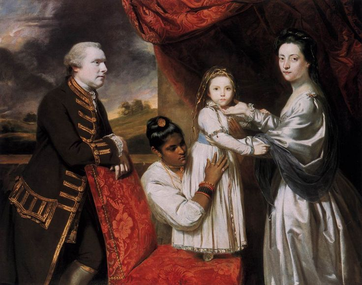 George Clive and his Family with an Indian Maid, 1765 - Joshua Reynolds