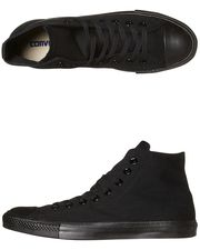 CONVERSE+MENS+CHUCK+TAYLOR+ALL+STAR+HI+TOP+SHOE+-+BLACK+MONOCHROME+on+http://www.surfstitch.com