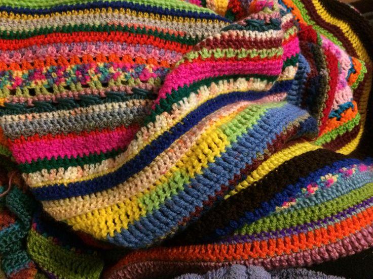Scrap Crochet Blanket Yarn stash busting goodness