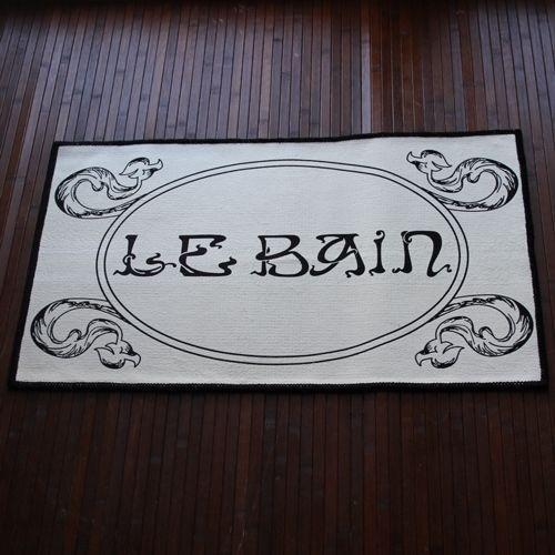 White black bath mat le bain ornate bathroom accessory vintage chic french