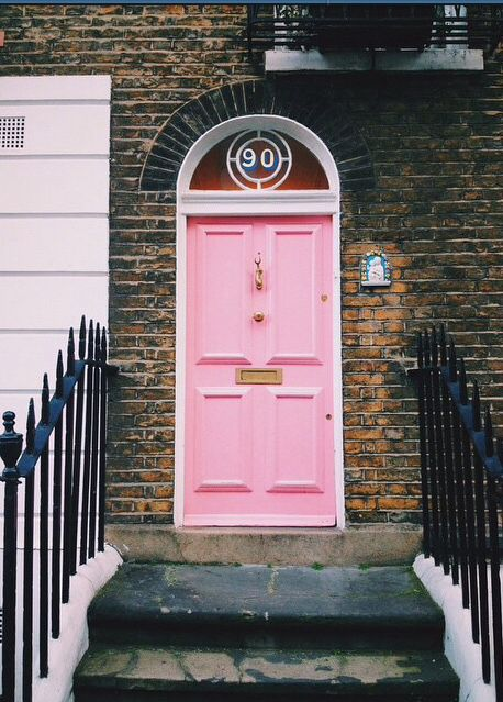 Pink door in London UK - Noticed the little Virgin Mary to the right? & 73 best Pink Doors images on Pinterest | Front doors Windows and ... pezcame.com